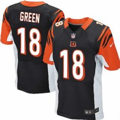 New Bengals 18 A.J. Green Nike Elite Jersey Black Team Color