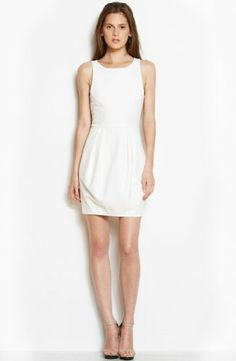 Armani exchange flared lace dress