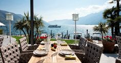 The Marina Restaurant at Hotel Eden Roc - unique location right by the shore of Lake Maggiore