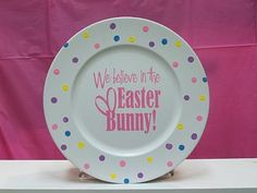 Easter plate with vinyl design