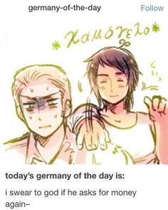 Hetalia- Germany and Greece. I don't even have any words for this