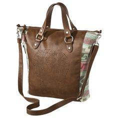 Mossimo Supply Co. Skull Tote Handbag - Brown