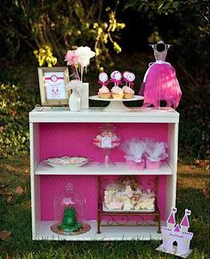rosada de la princesa de cuento de hadas mágicos Ideas fiesta de cumpleaños encantado partido printables suministros partido partyware partido paperie stationery13_600x741
