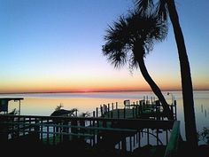 Sunset from the Pool of this great Cocoa Beach Florida Vacation Rental with 3 bedrooms, 2 baths!