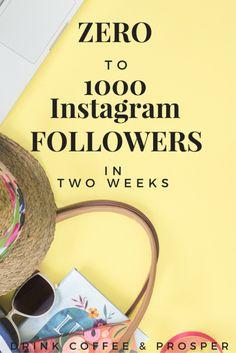 Zero to 1000 Instagram Followers in 2 weeks Instagram Feed, More Instagram Followers, Instagram Quotes, Social Media Site, Social Media Marketing, Affiliate Marketing, Online Marketing, Instagram Marketing Tips, Site Internet