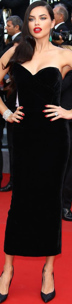 Adriana Lima wearing Ulyana Sergeenko at the 2015 Cannes Film Festival