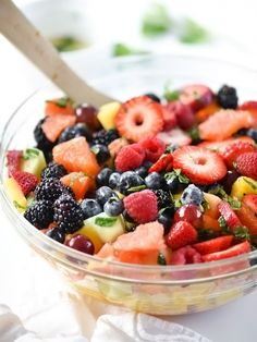 Berry Delicious Fruit Salad : foodiecrush