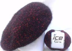 Linda boina Francesa Outono Inverno Lançamento e  Exclusividade  Mimos de Silvinha  Boina feita em lã especial  linha importada da Turquia Essa em preto e vermelho... pode ser feita em vermelho R$ 59,90