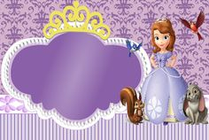 Sweet Sofia the First: Free Printable Invitations and Candy Bar Labels. Princess Sofia Invitations, Princess Sofia Birthday, Sofia The First Birthday Party, Princess Party, Birthday Invitations, Beatles Party, Candy Bar Labels, Free Printable Invitations, Printables