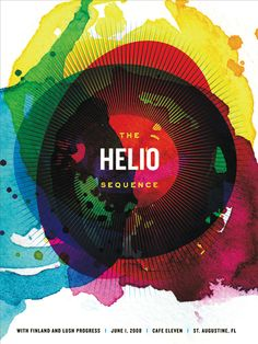 03/05/2012  The Helio Sequence #Poster (repinned from Roger Puente). Great use of colors, without being over the top.