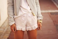 shorts and jacket