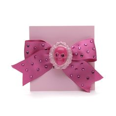 Grosgrain ribbon bow with crystal embellishments on anywhere clip. As seen on Pushing Daisies and Kelly Osbourne! #Hair #Beauty #Redheads Visit Beauty.com for more.