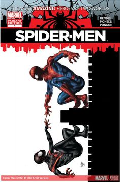 A colour version of the Spider-men variant I pinned earlier.