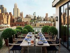 Contemporary Outdoor Space by Len Morgan in New York, New York