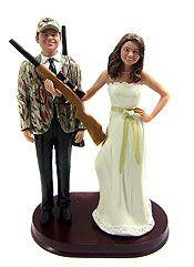 Hunting Wedding Cake Toppers - Wedding Day Pins : You're Source for Wedding Pins! Hunting Wedding, Camo Wedding, Wedding Bells, Our Wedding, Dream Wedding, Wedding Stuff, Hockey Wedding, Antler Wedding, Camouflage Wedding