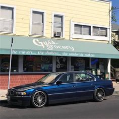 BMW E38 Blue with Rotiform IND-T DDT. 20x9 and 20x10.5 Bmw 740, Bmw Alpina, E 38, Bmw Classic Cars, Bmw 7 Series, Bmw Love, Bmw Cars, Luxury Cars, Cool Cars