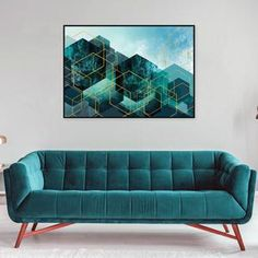 Gorgeous abstract geometric printable art in teal and turquoise. #gallerywall #picturewall #tealgold #geometricart #printables #modernwallart #tealbedroomideas #trendingnowart #urbanepiphany Shades Of Teal, Teal And Gold, Contemporary Interior Design, Leaf Art, Living Room Art, Modern Wall Art, Geometric Art, Printable Wall Art, Creative Gifts