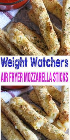 Weight Watchers Mozzarella Sticks – BEST WW Air Fryer Recipe – Dinner – Lunch – Treat – Snack with Smart Points - Healthy Food Recipes Air Fryer Recipes Snacks, Air Frier Recipes, Air Fryer Recipes Breakfast, Air Fryer Dinner Recipes, Airfryer Breakfast Recipes, Air Fryer Recipes Videos, Ww Recipes, Cooking Recipes, Cooking Tips