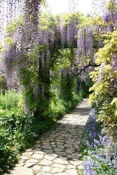 Ideas courtyard garden design wisteria stone path romantic – EMB Borlinghaus - All About