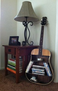 Guitar shelf by SecondTake on Etsy, $250.00