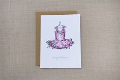 Ballerina Card | Penelope Poppy