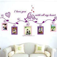 väggdekorationer väggdekaler, älskar fåglar fotoram klistermärken eva vägg klistermärken - SEK Kr. 94