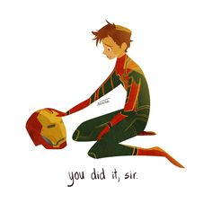 peter parker some angsty endgame art i did after seeing it for the first time The Avengers, Avengers Memes, Iron Man, Marvel Funny, Marvel Dc Comics, Marvel Heroes, Tom Holland, Loki, Thor