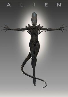 The Protomorph : Photo Alien Vs Predator, Predator Alien, Alien Film, Alien Art, Alien Alien, Giger Art, Hr Giger, King Kong, Science Fiction