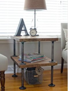 Allison from The Golden Sycamore saved money and showed off her DIY style with this incredible side table made from wood and galvanized metal. Find the tutorial here.