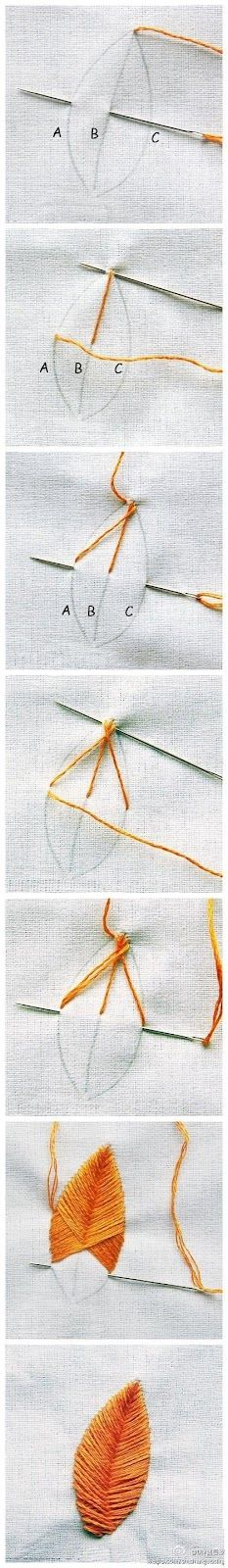 How to embroider leaves. Find all your embroidery needs here http://shop.vibesandscribes.ie/