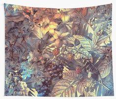 """flowers 12"" Wall Tapestries by JBJart | Redbubble – JBJart – fashion, home decor, art"