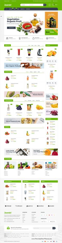 Javenist is clean and modern design 7in1 responsive WooCommerce #WordPress theme for stunning #grocery shop eCommerce #website to live preview & download click on Visit