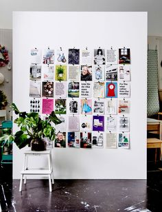 5 Clever Cover Ups: Apartment Decorating Ideas: Picture of a wall covered in pages cut from a book