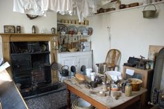 View of a victorian kitchen, Museum of Lincolnshire Life, Lincoln, Lincolnshire, England