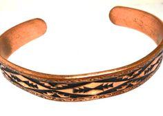 Copper Bracelet Southwestern Tribal Montana by JewlsinBloom