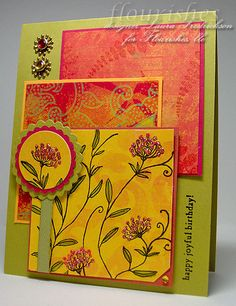 Birthday Summer Card - These colors are so pretty