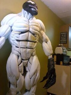 venom costume body suit by mongrelman on @deviantart | muscle body, Muscles