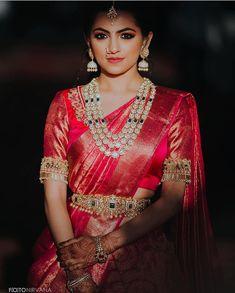 South indian blouse designs for a royal bridal look shaadisaga Brocade Blouse Designs, Wedding Saree Blouse Designs, Saree Wedding, Wedding Hair, Bridal Lehenga, Telugu Wedding, Punjabi Wedding, Wedding Bells, Boho Wedding