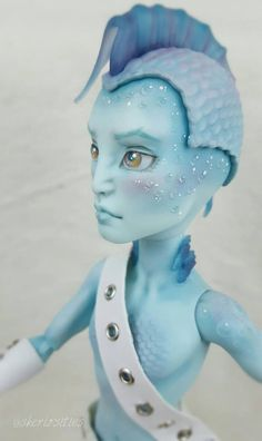 "Custom Gillington Webber Repaint - Monster High ""Arion"" by Skeriosities Tortas Monster High, Monster High Boys, Monster Boy, Love Monster, Monster High Custom, Ooak Dolls, Barbie Dolls, Art Dolls, Pretty Dolls"