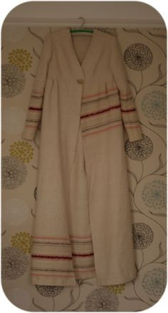 my new dressing gown, made from an old wool blanket using a vintage pattern  janetclare.co.uk   # Pin++ for Pinterest #