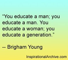 Brigham Young quote on education #Education #GoMom =)