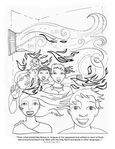 Tongues Of Fire Coloring Pages Holy Spirit Pentecost Coloring Holy Ghost Coloring Page