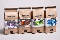Coffee packaging design and branding.  Designed by: Gian Besset, Switzerland.