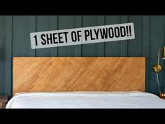 This simple and easy DIY plywood headboard is made with one sheet of plywood and a few Learn how to make a headboard in a weekend. Plywood Headboard Diy, How To Make Headboard, Diy Headboards, Making A Headboard, Unique Woodworking, Beginner Woodworking Projects, Popular Woodworking, Woodworking Plans, Weekender