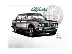 Alfa Romeo Alfetta (by Alan Caggiani)