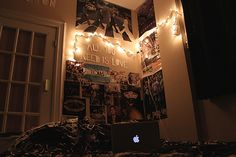Bedroom wall. I really want to decorate mine similar to this.
