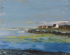 Peinture à l'huile -La mer paisible - paysage : Peintures par bys-peinture