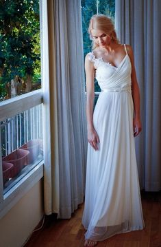 V-Shaped Neckline Cape Tulle Dress With Appliques Chiffon Beaded Lace Backless Wedding Dress Wedding Dresses Nz, Backless Lace Wedding Dress, Prom Dresses, Dresses 2016, Gown Wedding, Dresses Online, Beaded Chiffon, Beaded Lace, Spaghetti Strap Dresses