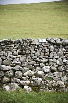 Dry Stone Wall, Yorkshire built by Ann Stewart