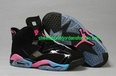 Jordan 6 GS Black Pink Flash Marina Blue 543390-050